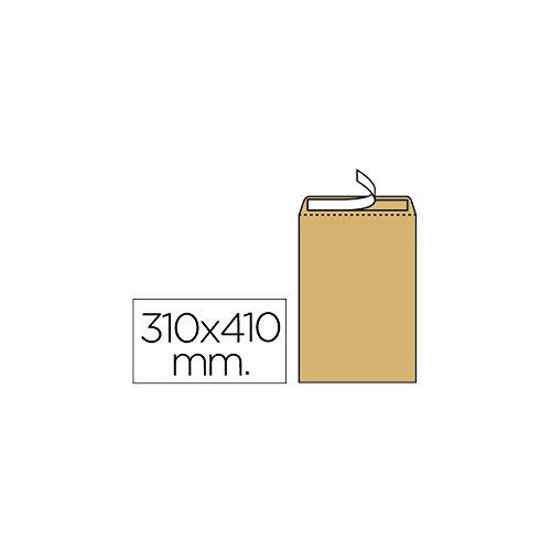 Liderpapel Sobre Bolsa N.13 Kraft 310X410 Mm Tira De Silicona Caja De 100 Unidades