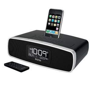 iHome iP90 Dual Alarm Clock Radio AM/FM Presets & Dock for iPod and iPhone (Black)