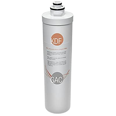 iSpring FKG15Q Quick-Change Inline KDF/Carbon Filter for Ultra Filtration Under Sink Water Filter System, fits CU-A3, CU-A4