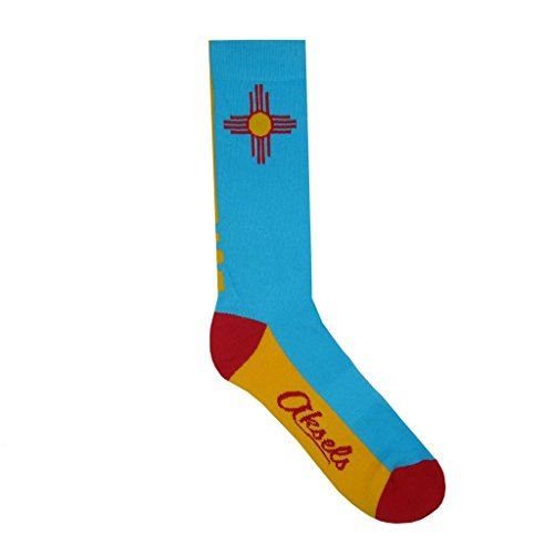 Aksels New Mexico State Calf Socks for Men and Women (Aqua)