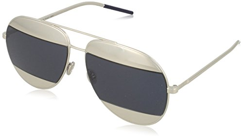Dior Women CD SPLIT1 59 Gunmetal/Blue Sunglasses - Sunglasses Dior Blue