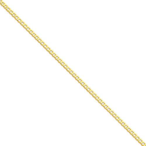 """3,8 carats 14 mm chaîne Bracelet gourmette-Concave - 20 """"pince de homard-JewelryWeb"""