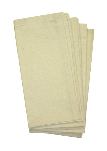 Aunt Martha's 4-Pack Dinner Napkins, 20 by 20-Inch, Ecru/Natural
