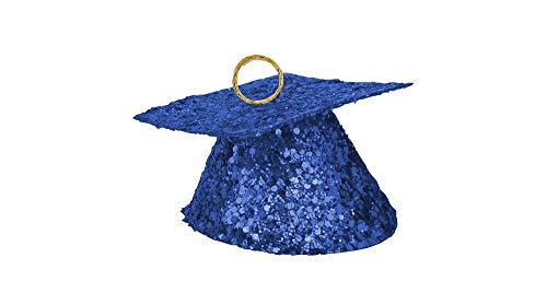 AG Sourcing LLC Royal Blue Glitter Graduation Balloon Weight, Party Decorations, Glitter Finish, Weighs 6oz -
