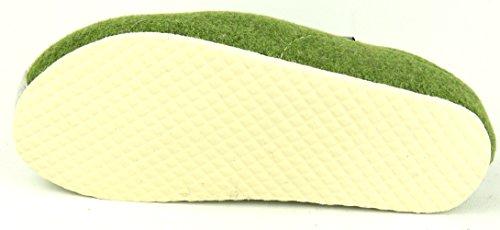 an grün Pantoffel FÜSSE Damen TOFEE Grün GRÜSSE Hausschuh WOLLFILZ die RawqF