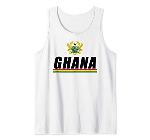 Ghanaian Black Star Of Africa Gifts Coat Of Arms Of Ghana Tank Top