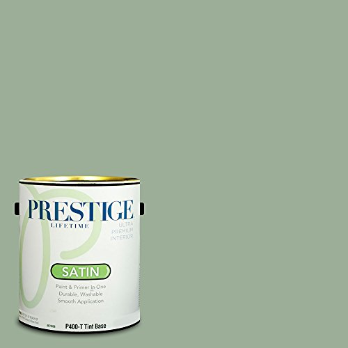 Prestige Paints Interior Paint and Primer In One, 1-Gallon, Satin,  Comparable Match of Benjamin Moore Norway Spruce ()
