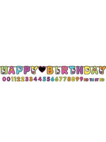 Hello Kitty 'Neon Tween' Jumbo Letter Birthday Banner (1ct) -