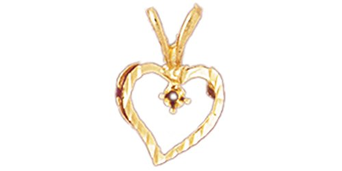 14k Yellow Gold Heart with Mounting Pendant 14k Yellow Gold Mens Mounting