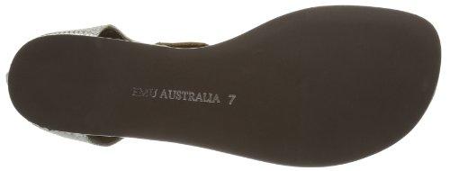 Emu Australia Zip Argent Argento Donna Sandali Burnberry Zip Con argent 44pWnPr7T