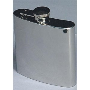 Tanday #4839 Engravable Silver Plated Classic Flask For Groomsmen Wedding - Flask Plated Silver