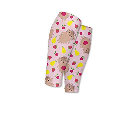 ftuyuy erett Men and Women Strawberry with Funny Smiling Hedgehogs Calf Compression Sleeve Sports Footless Leg Compression Socks for Shin Splint Support ()