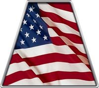 Fire Helmet American Flag TETRAHEDRONS - Set of 8 REFLECTIVE