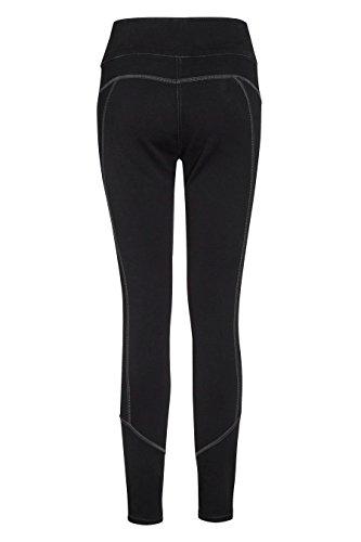 next Mujer Leggings Pantalones Vaqueros Costuras Deportivas De Mezcla De Algodón Negro