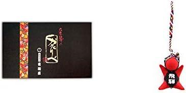 [2点セット] 岐阜銘菓 音羽屋 飛騨のかたりべ [12個]・さるぼぼ根付 【赤】/ ストラップ 縁結び・魔除け //