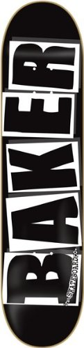 - Baker Brand Logo Deck-8.0 Black/White Skateboard Deck