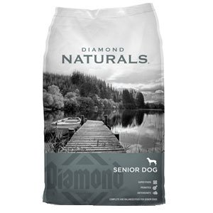 Diamond Naturals Dry Food for Senior Dogs 8+, Chicken, Egg, and Oatmeal Formula, 35 Pound Bag