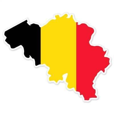 Sticker / Decal - JDM - Die cut - Belgium Map Flag Bumper Sticker europe 101mmx101mm