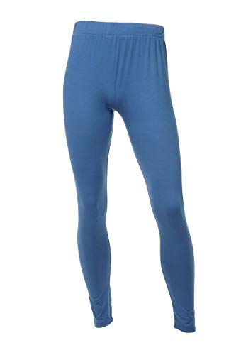 fc6948b8ca079 Neovic Mens Athleisure Ultra Soft Knit Yoga Pants Base Layer Casual Solid  Leggings - Denim Blue