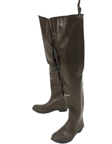 Frogg Toggs Classic Rubber Bootfoot Hip Wader, Cleated Outsole, Brown, Size 13