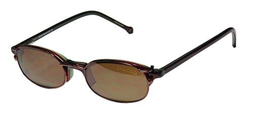 SmartClip 901 Mens/Womens Designer Half-rim Classy Polarized Sunglass Lens Clip-Ons Flexible Hinges Eyeglasses/Glasses (46-20-140, Olive/Wine) by SmartClip