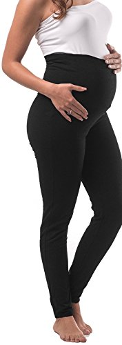 My Bella Mama Maternity Yoga Leggings Tall (Large, Black) ()