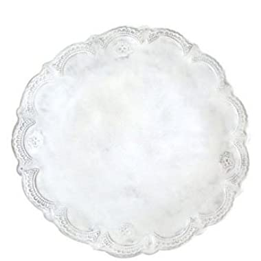 Vietri Incanto White Lace Dinner Plate 11.75 in D (Set of 2)