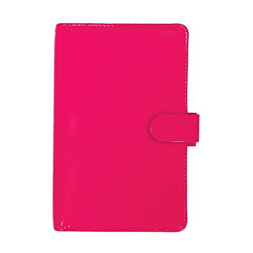 Filofax Pen Pink (Filofax 2016 Compact Organizer, Patent Fluro Pink, 6.75 x 3.75