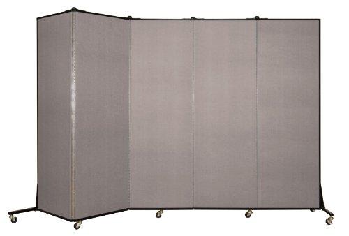 (Screenflex BFSL685-BG Light Duty Portable Room Divider, 5 Panels)