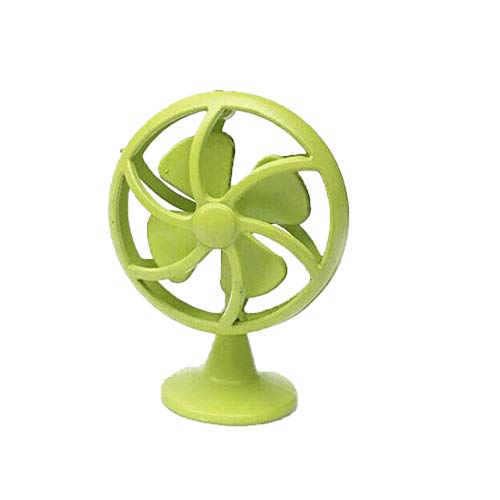 Electric Fan Model Maserfaliw Dollhouse Miniature 1:12 Retro Alloy Electric Fan Home Furniture Accessory Decor - Green, Home Life, Office, Holiday Gifts.