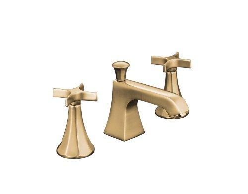 Kohler k 454 3c bv memoirs widespread lavatory faucet with for Vibrant brushed bronze bathroom lighting