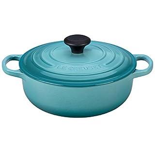 Le Creuset Signature Cast Iron Sauteuse Oven, 3.5 qt, Caribbean