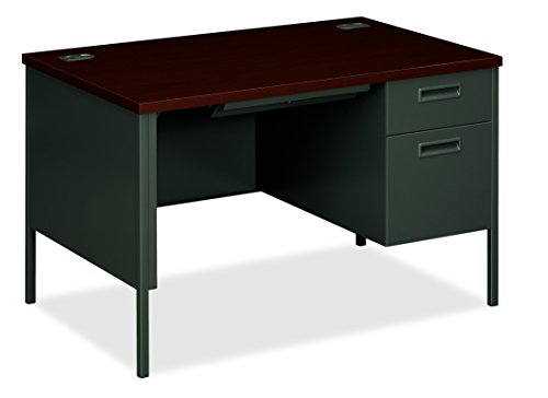 (HON Metro Classic Small Office Desk - Right Pedestal Desk with File Drawer, 48
