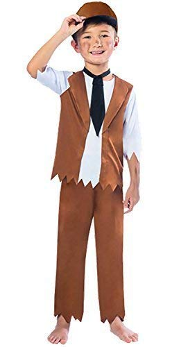 Boys Poor Victorian Peasant Oliver Twist Street Urchin World Book Day Historical Fancy Dress Costume Outfit 3-10 Years (9-10 years)]()