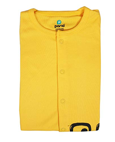 Pario Unisex Bodysuits for Baby Boys and Girls Under 300 (3-6 Months, Yellow)