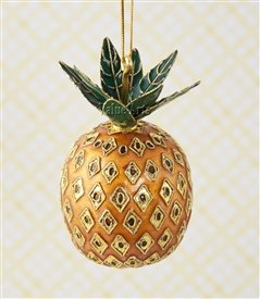 value arts christmas ornaments handmade cloisonne gold pineapple ornament