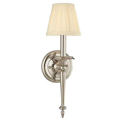 - Hudson Valley Lighting 5201-PN One Light Wall Sconce from The Jefferson Collection, 1, Polished Nickel