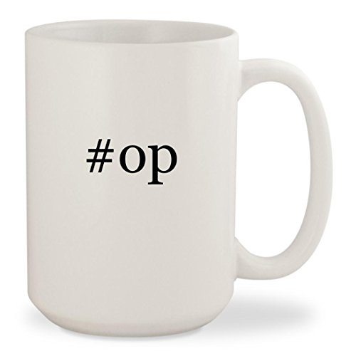 #op - White Hashtag 15oz Ceramic Coffee Mug Cup