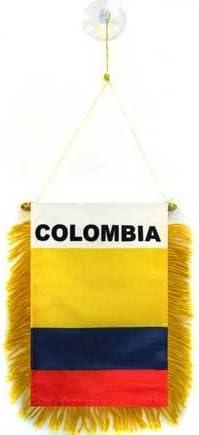 AZ FLAG BANDERIN de Colombia 15x10cm con Ventosa - BANDERINA Colombiana 10 x 15 cm para Coche: Amazon.es: Hogar