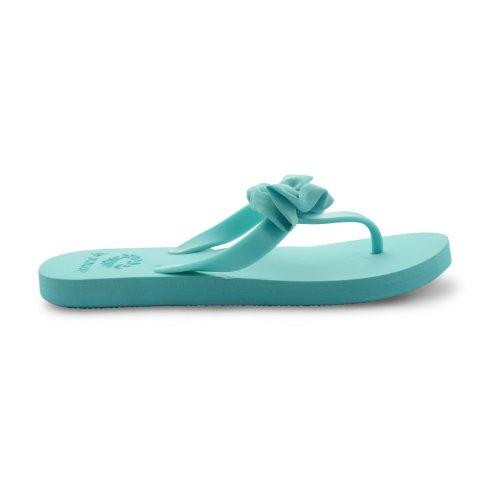 Dunlop - Chanclas para mujer verde verde verde - azul claro