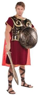 amscan Spartan Chest Plate with Cape - Gracious God & Goddess -