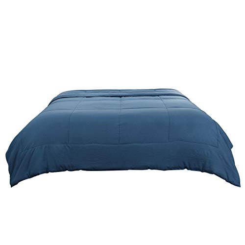 PiccoCasa Twin Blue 100% Washed Cotton Quilted Comforter - Duvet Insert/Stand Along Comforter - Reversible Design - Machine Washable - 68 by 88 inches by PiccoCasa (Image #9)
