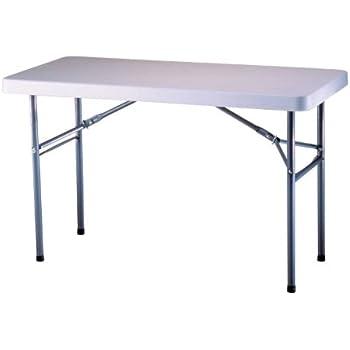 Amazon Com Lifetime 22950 Folding Utility Table 4 Feet White Granite Garden Amp Outdoor