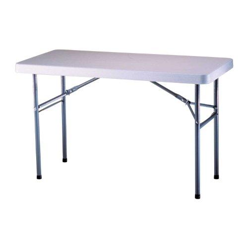 Lifetime 22950 Folding Utility Table, 4 Feet, White Granite