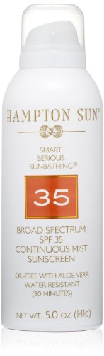 Hampton Sun SPF 35 Continuous Mist Sunscreen, 5 (Continuous Sunscreen Mist)