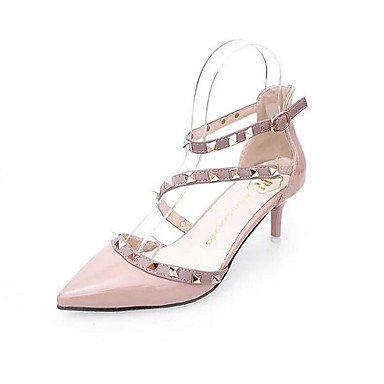 Lvyuan ggx Blanco Rosa Rojo Cuero Blushing Plano Pink Mujer De Boda Pu Patentado Primavera Zapatos UBnqrgfB