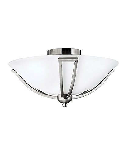 Strange Brushed Nickel Flush Wall Light With Two Light Fittings Wiring Digital Resources Jebrpcompassionincorg
