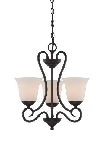 (Designers Fountain 85283-ORB Addison 3 Light Chandelier, Oil Rubbed Bronze)