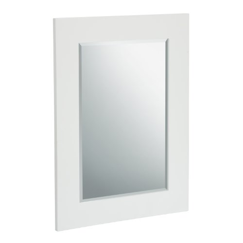 Elegant Bathroom Mirror (Elegant Home Fashions Chatham Wall Mirror, White)