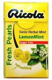 (Pack of 20) Ricola Fresh Pearls Sugar-Free Lemon Mint 25g